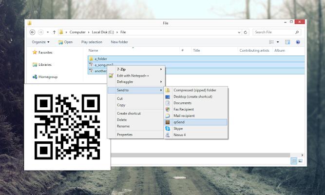 qrSend - screenshot