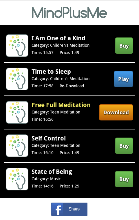 MindPlusMe Meditations- screenshot