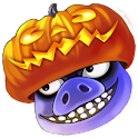 Greedy Pigs Halloween logo