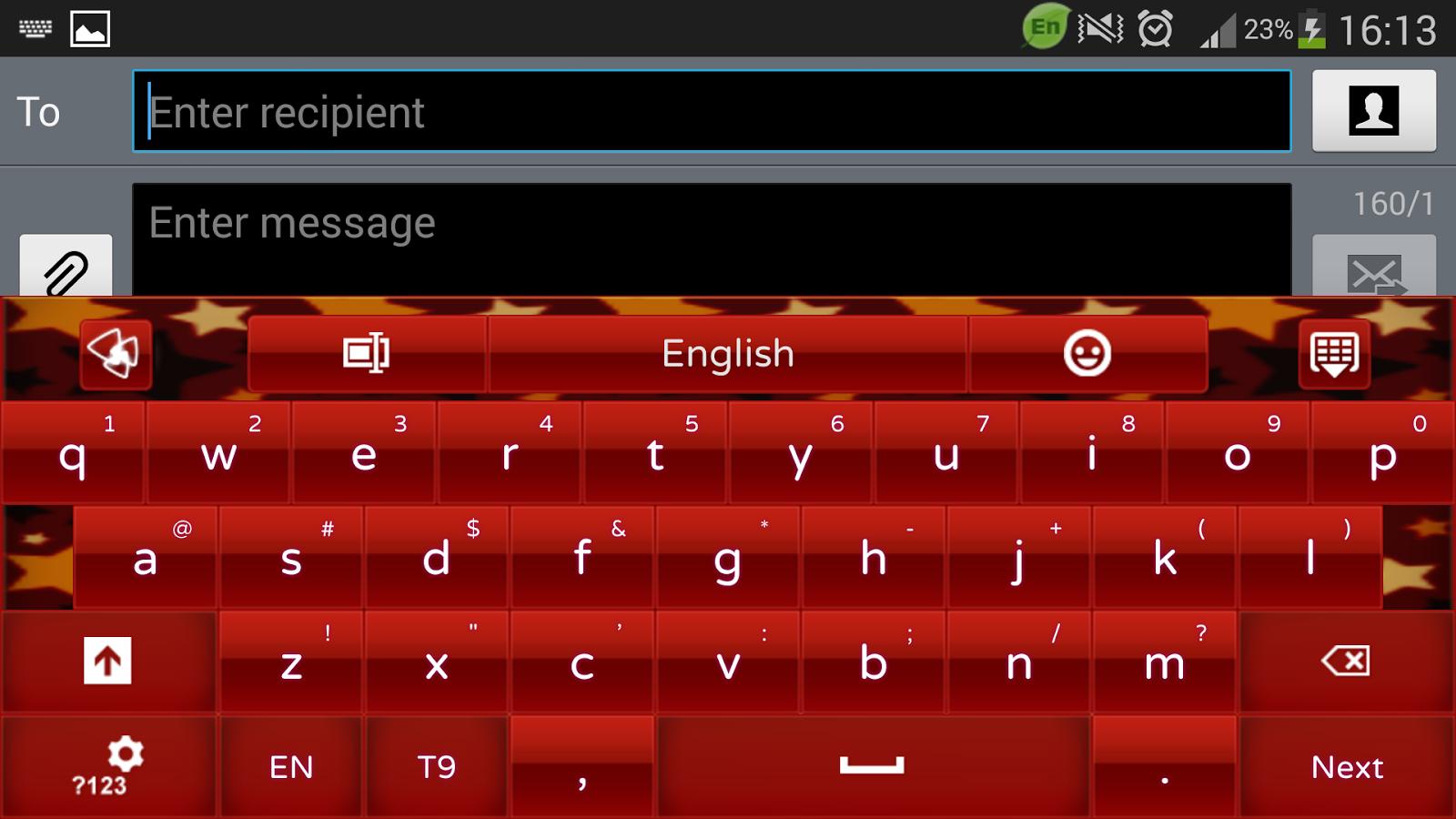 Google themes crvena zvezda - Red Star Keyboard Theme Screenshot