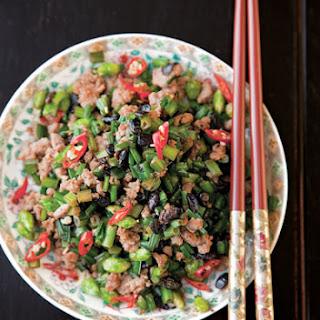 Garlic Chives with Pork (Cang Ying Tou)
