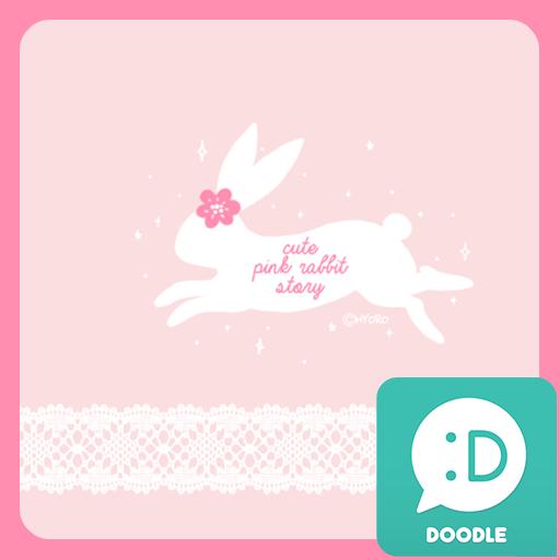 個人化必備App|핑크 래빗 스토리 카카오톡 테마 LOGO-綠色工廠好玩App
