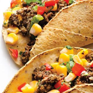 Black Bean Tacos with Corn Salsa.