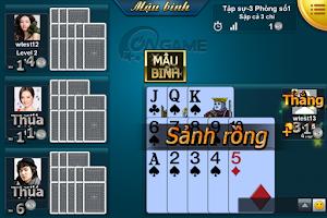 Screenshot of Ongame Mậu Binh (game bài)