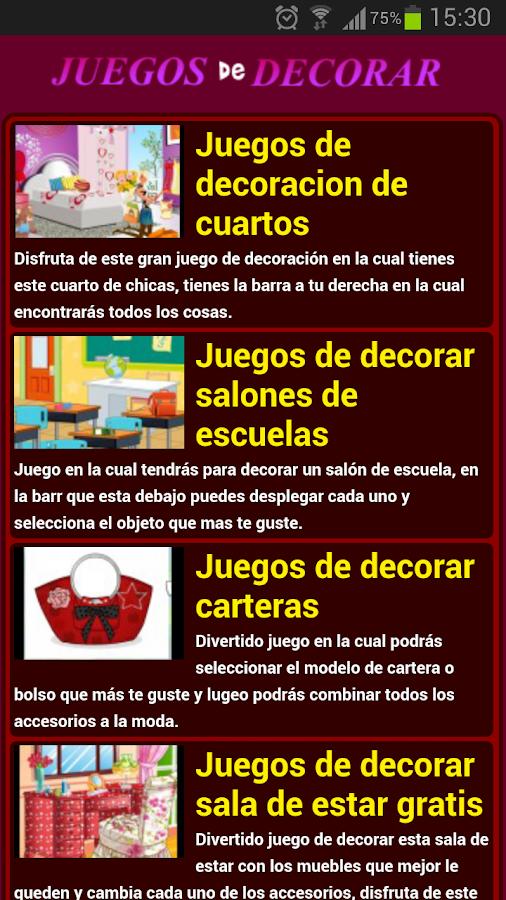 Juegos de decorar - screenshot