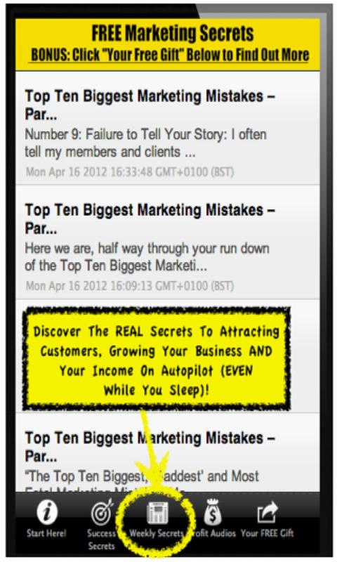 Marketing Secrets - screenshot