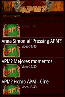 APM? Vídeos - screenshot thumbnail