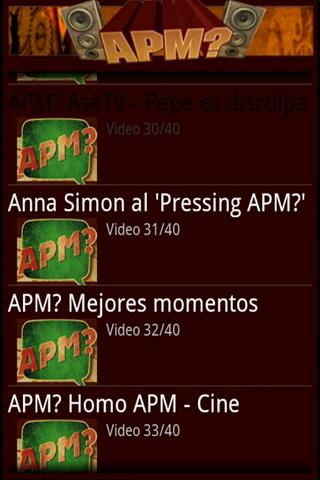 APM? Vídeos - screenshot