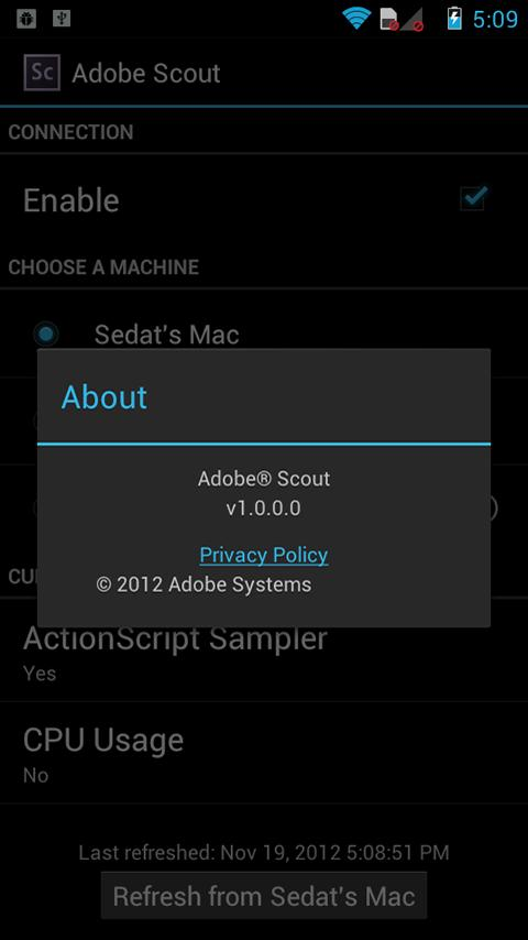 Adobe Scout - screenshot