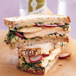 Grilled Chicken and Escarole Sandwich with White-Bean Spread.