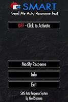 Screenshot of SMART -- SMS Responder