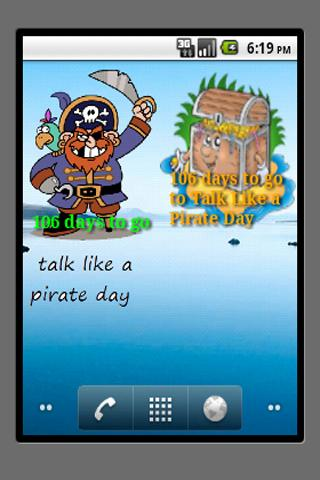 talk like a pirate countdown - screenshot