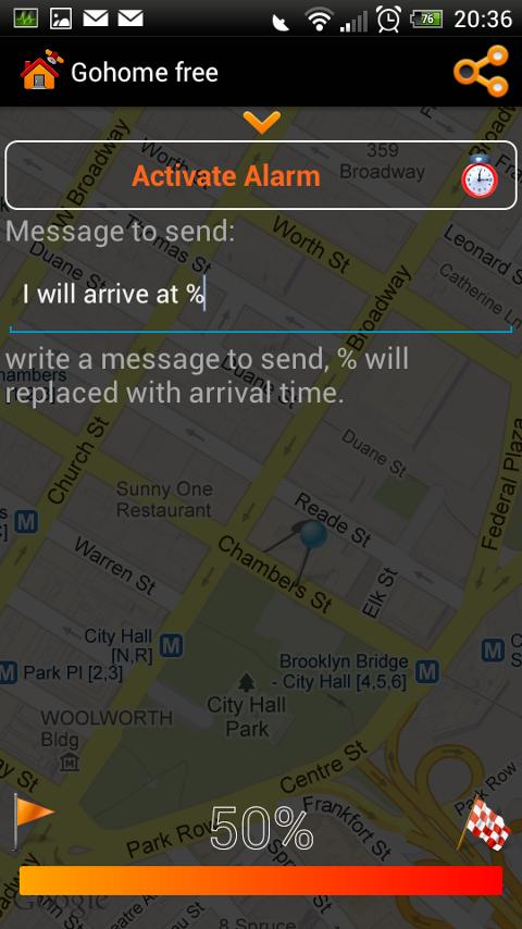 Gohome Arrival time sms - free - screenshot