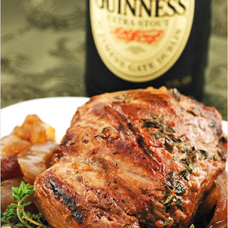 Guinness-Thyme Marinated Lamb w/ Red Onion Compote