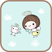 Bebe angels go launcher theme