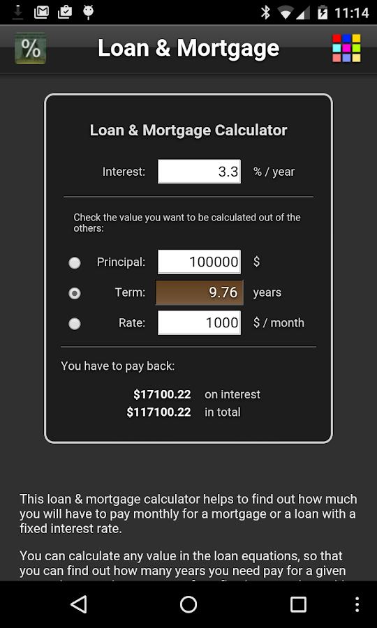 Loan & Mortgage- screenshot