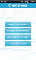 Screenshot of Cheat Sheets Lite