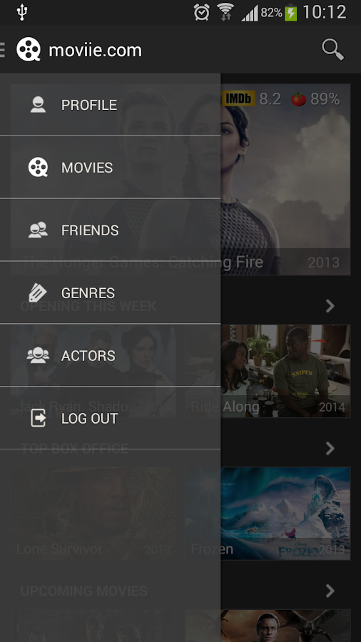 Movies by moviie.com - screenshot