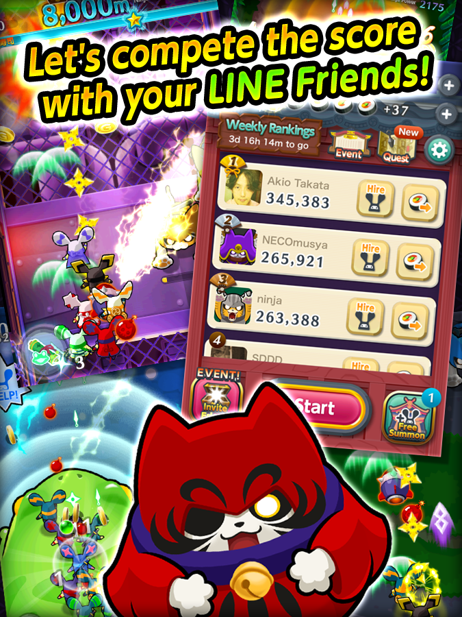 LINE Ninja Strikers - screenshot