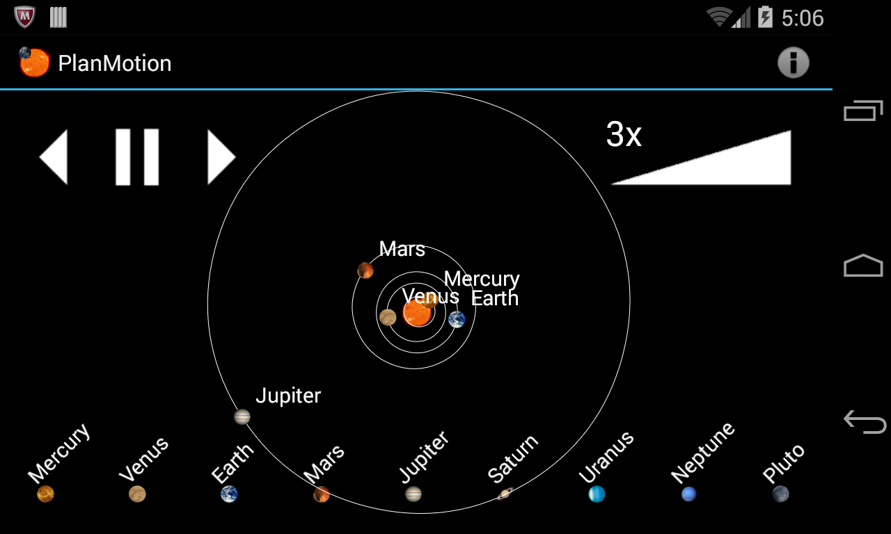Planetary Motion- screenshot