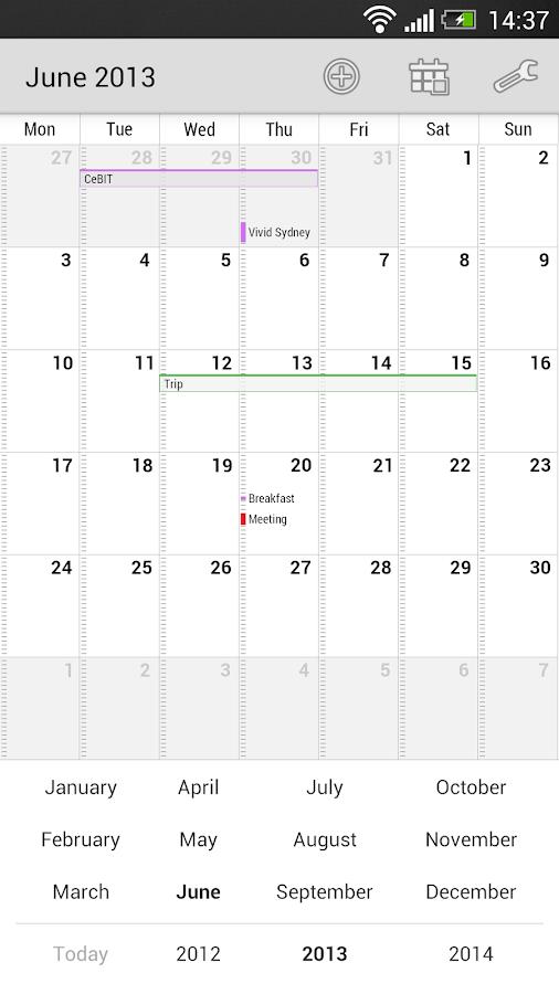 Neat Calendar Widget - screenshot