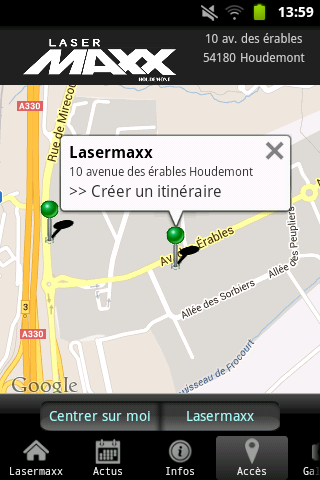 Lasermaxx Nancy Houdemont - screenshot