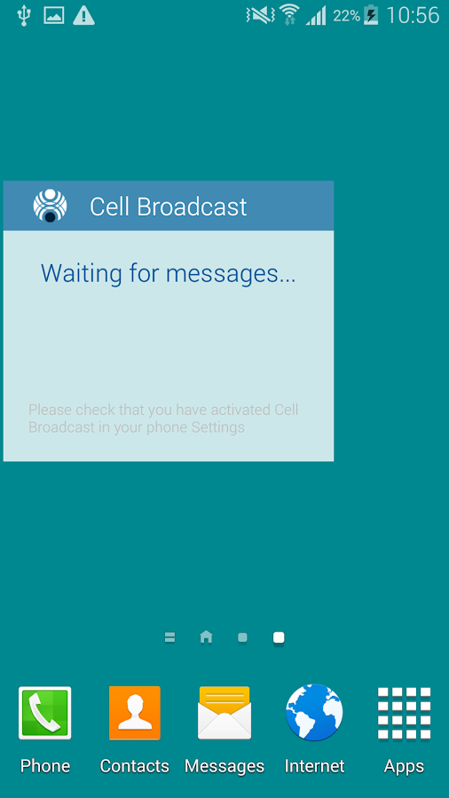 Cell Broadcast Display- screenshot