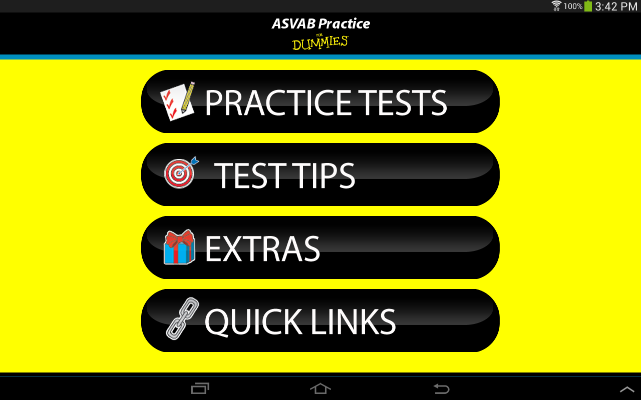 ASVAB Practice For Dummies - screenshot