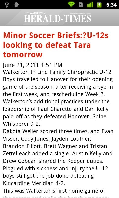 Walkerton Herald-Times- screenshot