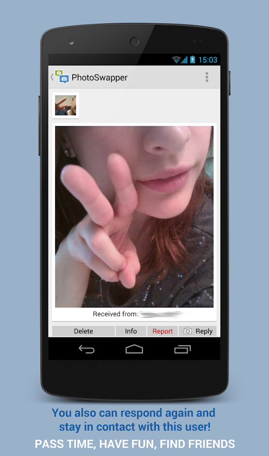 PhotoSwapper - photo chat- screenshot