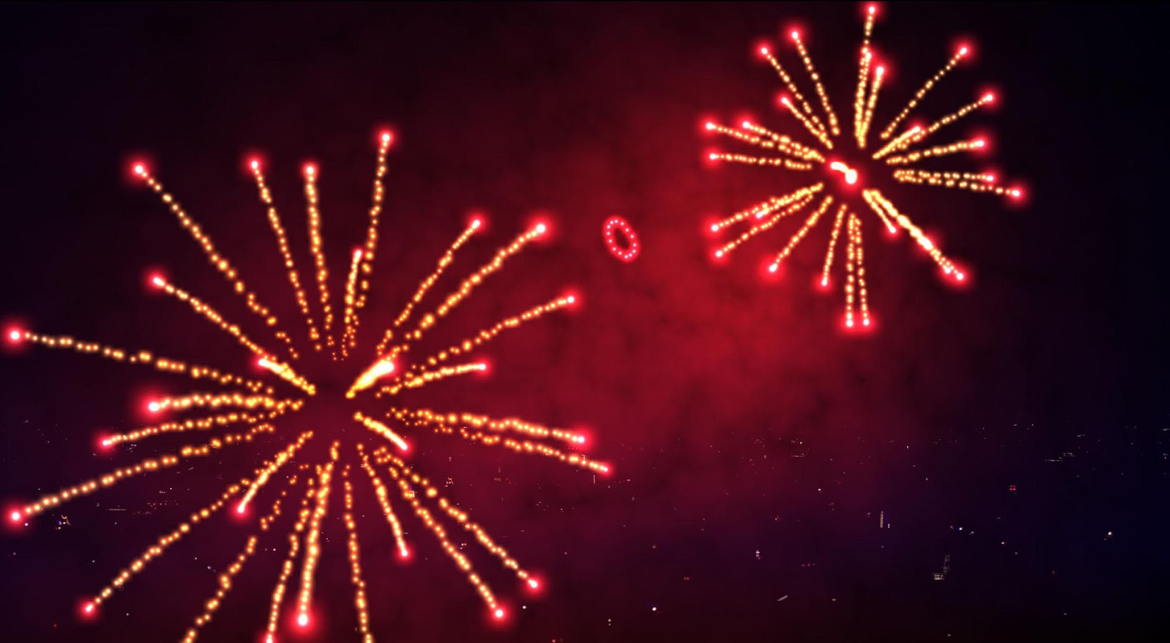 3D Fireworks Wallpaper Free- screenshot
