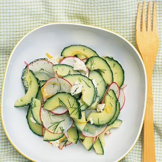 Cucumber Salad with Radish and Dill.