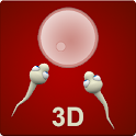Sperm journey 3D icon