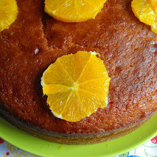 Cake with Honey Syrup and Orange.