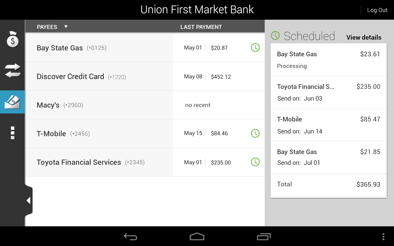 Union First Market Bank Mobile - screenshot