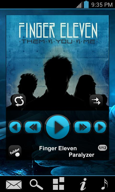 PowerAmp Fresh Widget Pack - screenshot