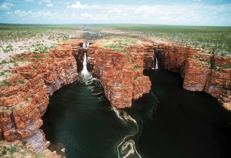 Explore King George Falls and the red cliffs of Kimberley, Australia, when you sail with Silver Discoverer.