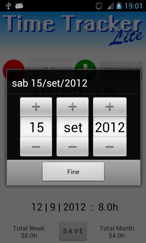 Time Tracker Lite- screenshot