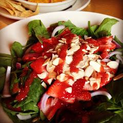 Spinach Strawberry Almond Salad