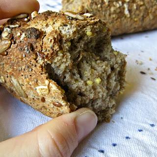 Baguette aux Céréales, Gluten-Free (French multigrain bread).