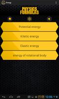 Screenshot of Physics Formulas