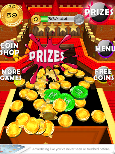 Gold Coin Dozer Castle Arcade