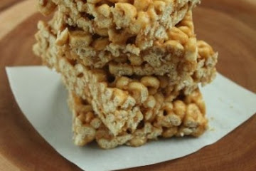 Peanut Butter Honey Cereal Bars