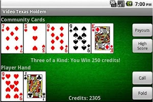 Screenshot of Video Texas Holdem Poker (Pro)