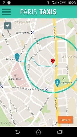 Screenshot 1 Paris Taxis - client