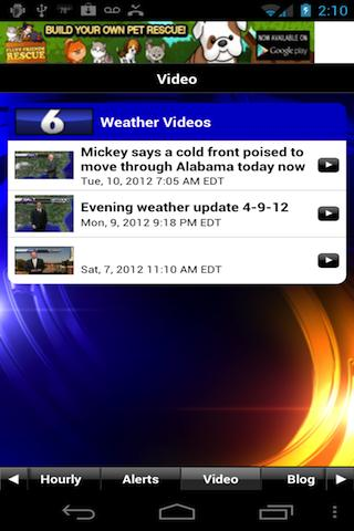 FOX6 WBRC StormWarn Center - screenshot