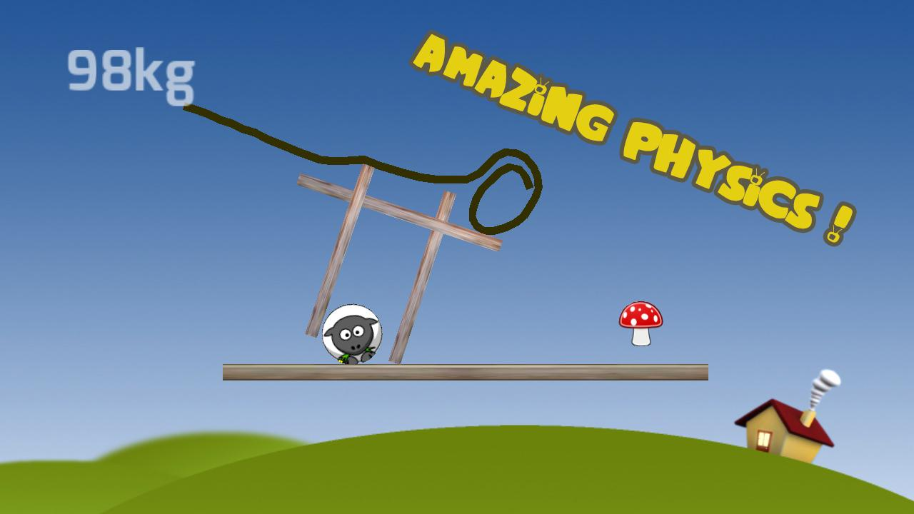 Gravity Sheep FREE(Physics 2d)- screenshot