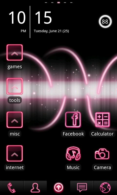 Neon Pink ADW Theme- screenshot