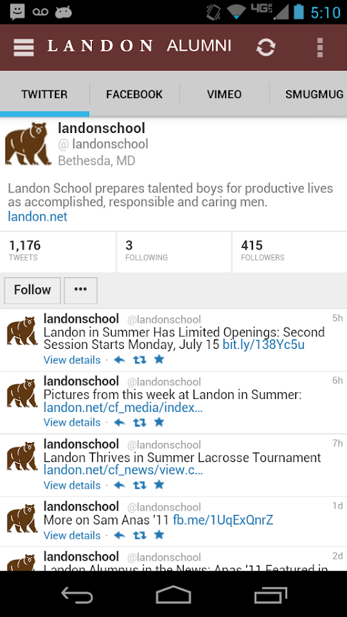 Landon School Alumni Mobile - screenshot