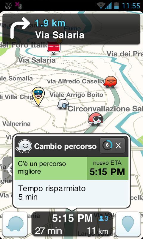 waze social gps maps traffic app android su google play. Black Bedroom Furniture Sets. Home Design Ideas